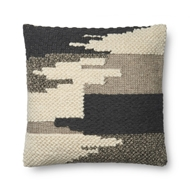 "Magnolia Home by Joanna Gaines 22"" X 22"" Manuel Pillow Black - P1076"