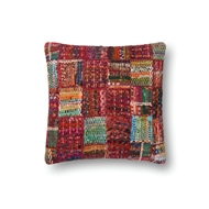 "Magnolia Home by Joanna Gaines 22"" X 22"" Pillow Red & Multi - P0535"
