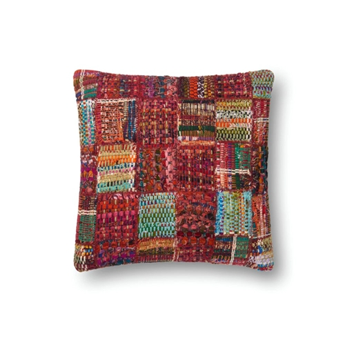 Magnolia Home by Joanna Gaines Red & Multi Pillow P0535 - Designer Pillow