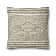 "Magnolia Home by Joanna Gaines 22"" X 22"" Sebastian Pillow Grey & Ivory - P1056"
