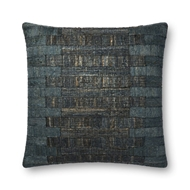 "Magnolia Home by Joanna Gaines 22"" X 22"" Thomas Pillow Teal - P1085"