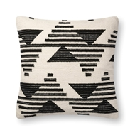 "Magnolia Home by Joanna Gaines 22"" X 22"" Trice Pillow Black & White - P1099"