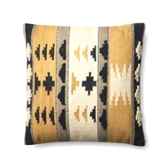"Magnolia Home by Joanna Gaines 22"" X 22"" Walton Pillow Gold & Black - P1065"
