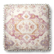 "Magnolia Home by Joanna Gaines 26"" X 26"" Lin Pillow Pink & Multi - P1081"
