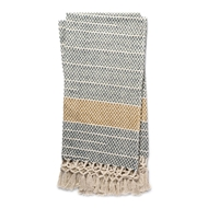 Magnolia Home by Joanna Gaines Emry Grey & Gold Throw Blanket