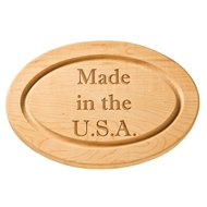 "Maple Leaf 12"" Oval Cutting Board"