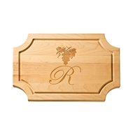 "Maple Leaf 18"" Scalloped Cutting Board w/o Handle"