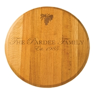 "Maple Leaf 22"" Lazy Susan Gold Oak"