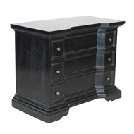 Noir Furniture Spanish Side Table Hand Rubbed Black
