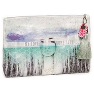 Papaya Art Deep Love Large Accessory Pouch - Womens Accessories