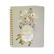 Papaya Art Dig Deep Daisy Spiral Notebook