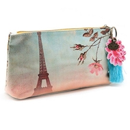 Papaya Art Eiffel Tower Small Accessory Pouch - Womens Accessories