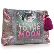 Papaya Art Moon and Back Large Accessory Pouch - Womens Accessories