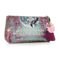 Papaya Art Moon and Back Small Accessory Pouch - Womens Acessories