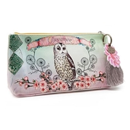 Papaya Art Owl Small Accessory Pouch - Womens Accessories