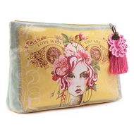 Papaya Art Rose Large Accessory Pouch - Womens Accessories