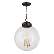 Regina Andrew Lighting Globe Pendant - Oil Rubbed Bronze & Natural Brass