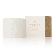 Thymes Frasier Fir Ceramic Gilded Candle - Petite