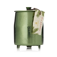 Thymes Frasier Fir Green Metal Poured Candle Tin 0521576000