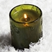 Thymes Molded Green Glass Candle - Frasier Fir Scent