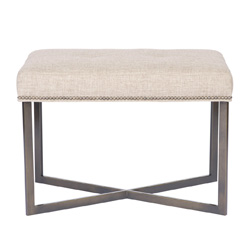 Vanguard Furniture Jersey Metal Frame Ottoman