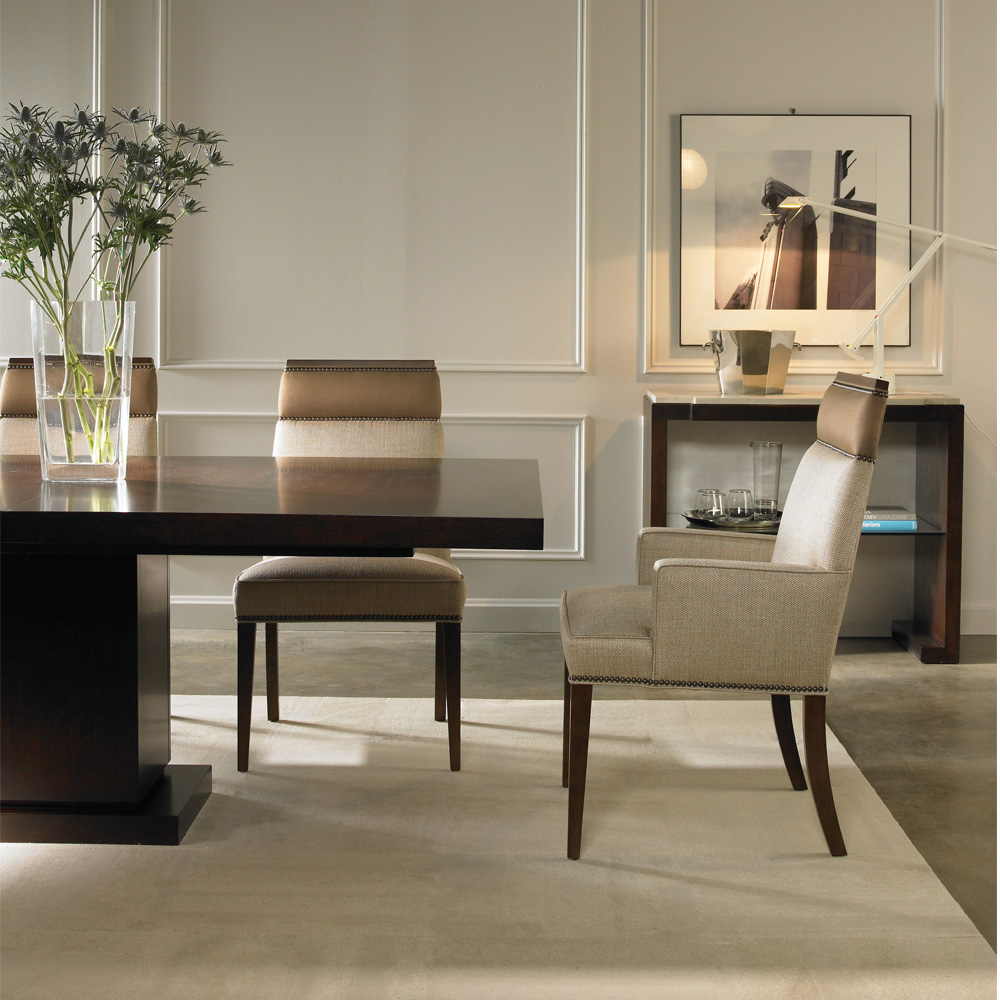Bench Dining Tables: Vanguard Michael Weiss Bradford Dining Table