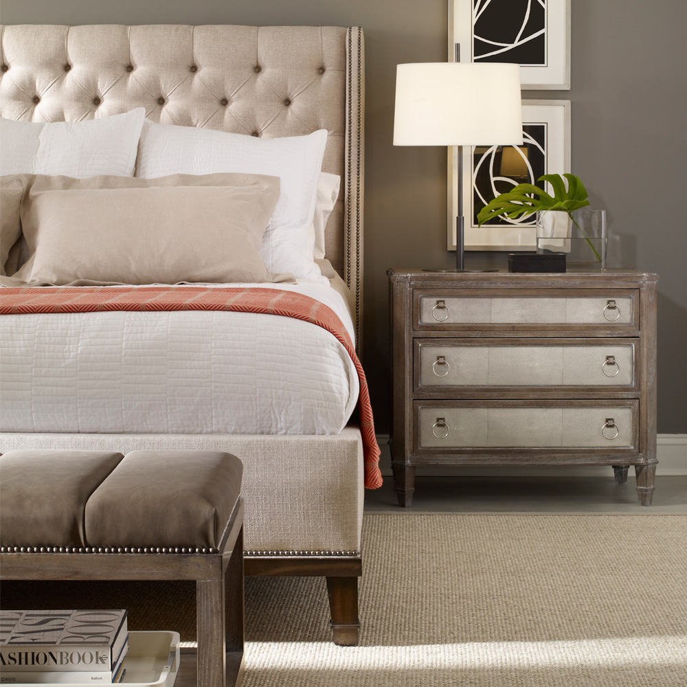 Vanguard Furniture Cleo Bed Customizable Luxury Bedroom Furniture