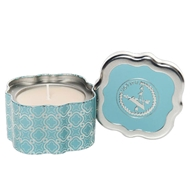 Votivo Icy Blue Pine Holiday Quatrefoil Scented Candle