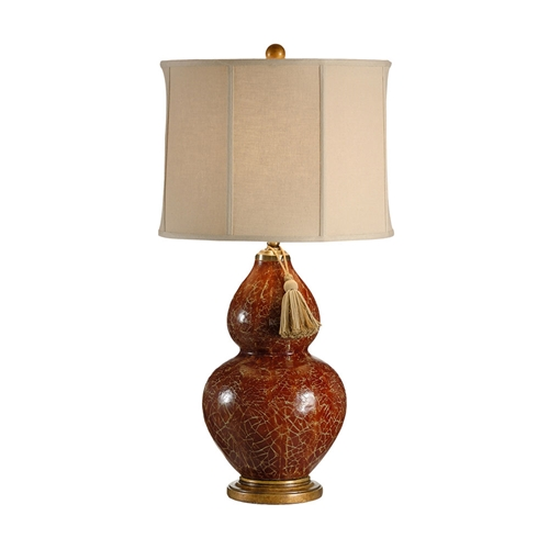 Wildwood Lighting Red Gourd Lamp 12504 Earthenware
