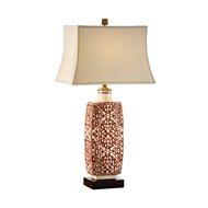 Wildwood Lighting Embroidered Bottle Lamp-Red