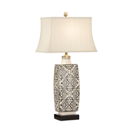 Wildwood Lighting Embroidered Bottle Lamp-Black