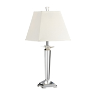 Wildwood Lighting Reverse Pyramid Lamp 22176 Solid Crystal