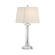 Wildwood Lighting Round Crystal Column Lamp 22231 Solid Crystal