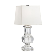 Wildwood Lighting Square Crystal Urn Lamp 22233 Solid Crystal