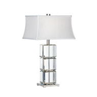 Wildwood Lighting Cubic Lamp 22415 Solid Crystal