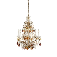 Wildwood Lighting Fruits In Crystal Chandelier 2297 Lead Crystal With French Gold Frame