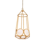 Wildwood Lighting Earlom Pendant - Gold 23326 Antique Gold Leaf Finish - Iron