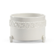 Wildwood Home Laurel Cachepot - White (Sm) 295563 Ceramic