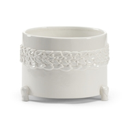 Wildwood Home Laurel Cachepot - White (Lg) 295564 Ceramic
