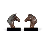 Wildwood Home Horse Bookends (Pair) 297042 Hand Colored