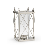 Wildwood Lighting Square Frame Hurricane 300605 Polished Nickel