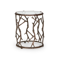 Wildwood Home Elkmont Accent Table 300649 Cast Aluminum