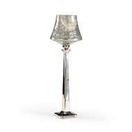 Wildwood Lighting Candle Holder With Shade 300653 Polished Aluminum