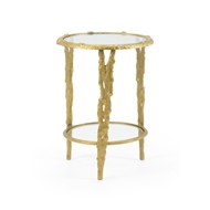 Wildwood Home Woody Accent Table 300720 Cast Aluminum