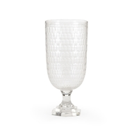 Wildwood Lighting Tall Thumbprint Candlestand 300845 Crystal