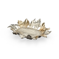 Wildwood Home Sunflower Tray (Sm) 300913 Ambered Silver Finish