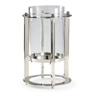Wildwood Lighting Hurricane Candleholder 300978 Polished Nickel Finish