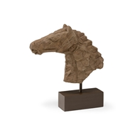 Wildwood Home Chiseled Horsehead Sculpture