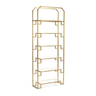 Wildwood Home Hampton Shelf Unit - Brass 301067 Metal