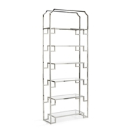 Wildwood Home Hampton Shelf Unit - Nickel